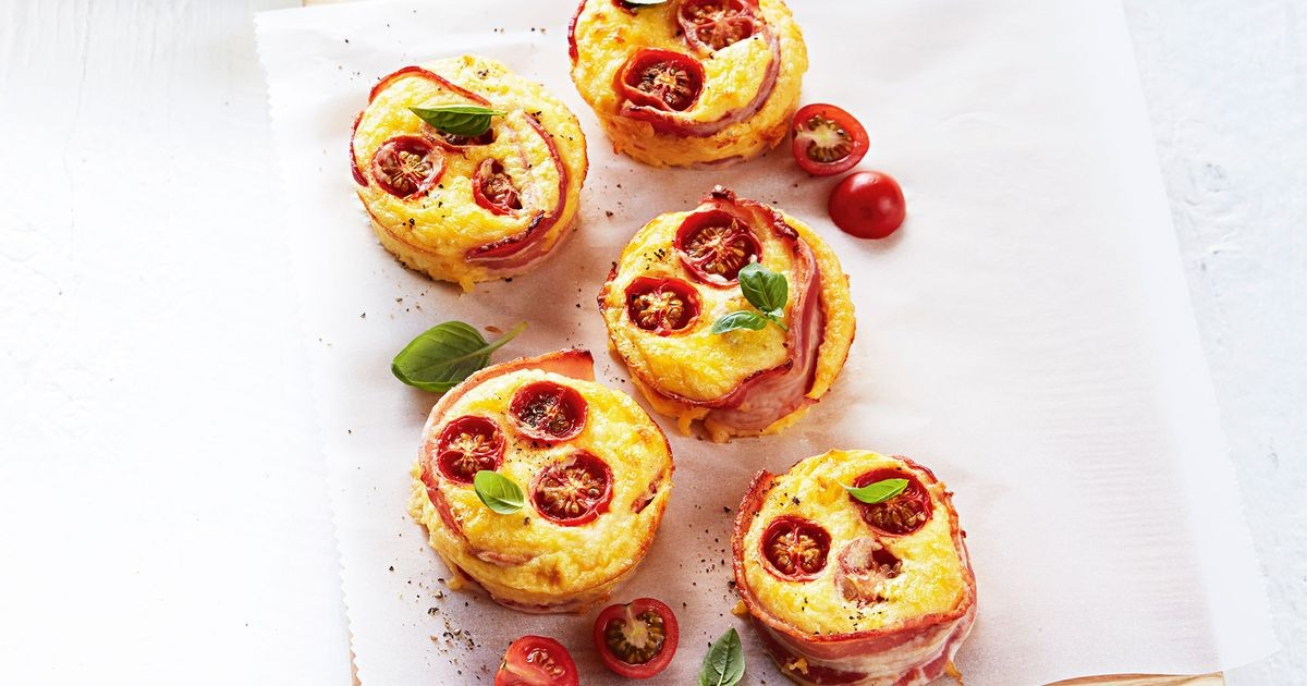 5-ingredient bacon and egg quiches